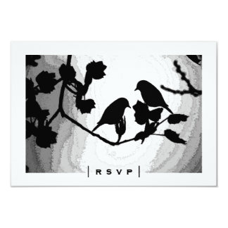 Gothic Love Birds Silhouettes RSVP Cards