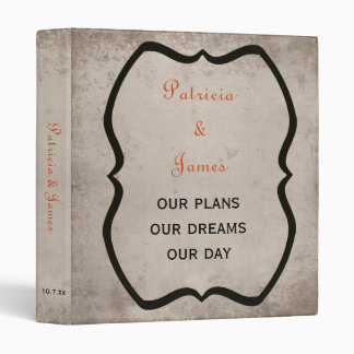 Gothic Love Wedding Planner Vinyl Binders
