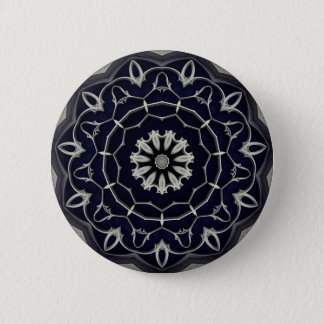 Gothic mandala 2 inch round button
