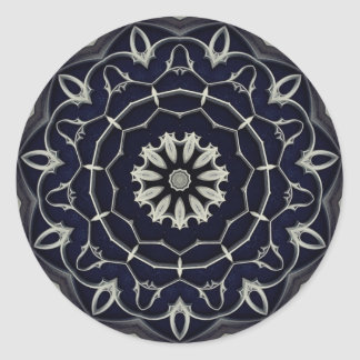 Gothic mandala classic round sticker