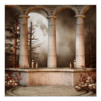 Gothic Marble Columns Poster