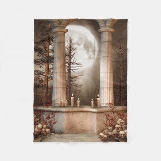 Gothic Marble Columns Small Fleece Blanket