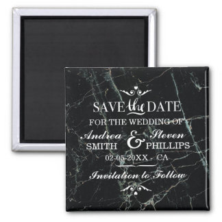 Gothic Marble Save The Date Magnet Wedding