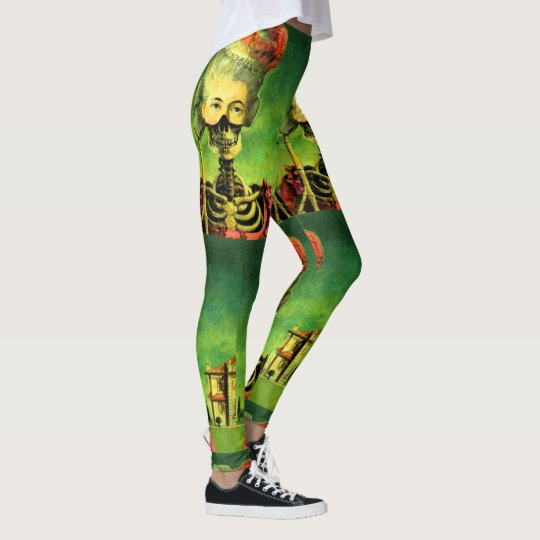 Gothic Masked Skeleton Leggings