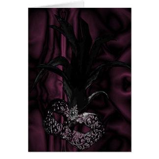 Gothic Masquerade Invitation - Wine Color