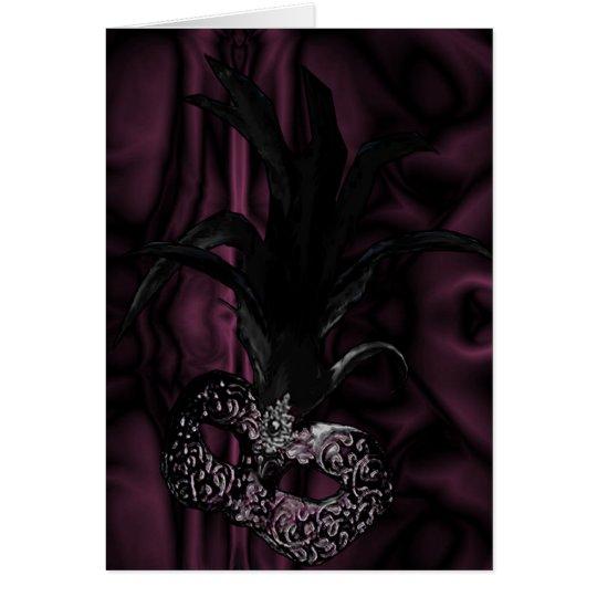 Gothic Masquerade Invitation - Wine Colour