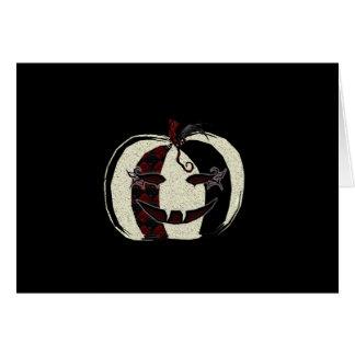 Gothic Masquerade Pumpkin Card