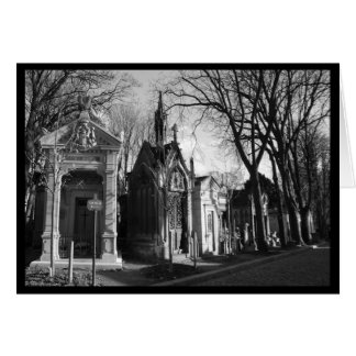 Gothic Mausoleum Cemetery card