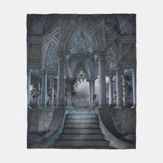 Gothic Mausoleum Fleece Blanket