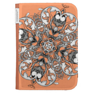 Gothic Medieval Floral Design Kindle Case
