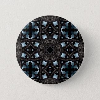 Gothic medieval kaleidoscope 2 inch round button