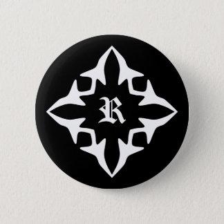 Gothic medieval monogram 2 inch round button