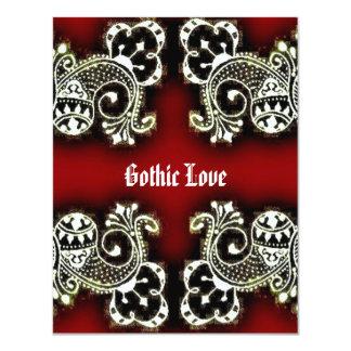 "Gothic Mehndi 4.25"" X 5.5"" Invitation Card"