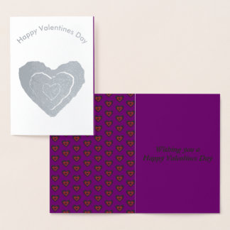 Gothic Melting Love Heart Foil Card