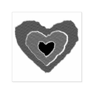 Gothic Melting Love Heart Self Inking Stamp