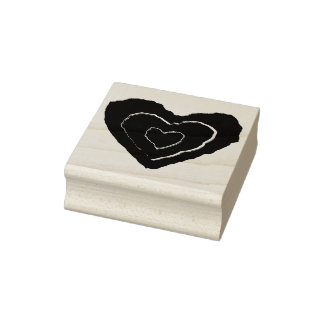 Gothic Melting Love Heart Wood Art Stamp