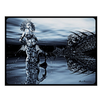 Gothic Mermaid Queen Poster