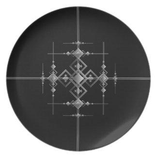 Gothic metallic pattern. dinner plates