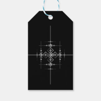 Gothic metallic pattern. pack of gift tags