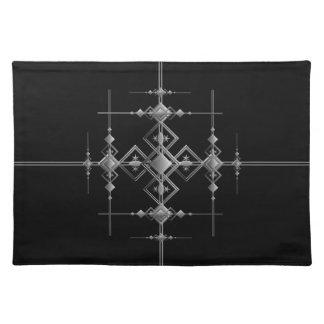 Gothic metallic pattern. placemat