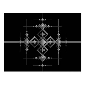 Gothic metallic pattern. postcard