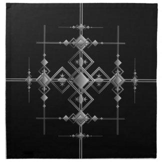 Gothic metallic pattern. printed napkin