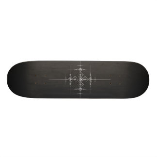 Gothic metallic pattern. skate board
