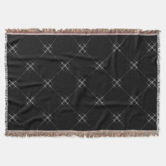 Gothic metallic pattern. throw blanket