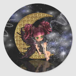 gothic moon fairy stickers cute fairy