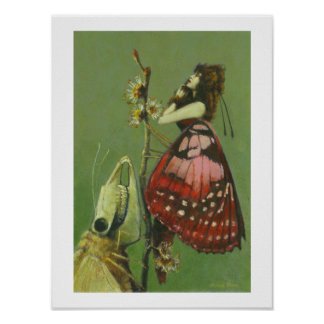 Gothic Moth Lady Poster