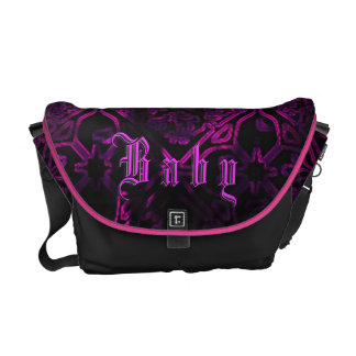 Gothic Neon Purple Baby Girl Custom Diaper Bag Courier Bag