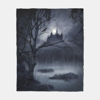 Gothic Night Fantasy Fleece Blanket