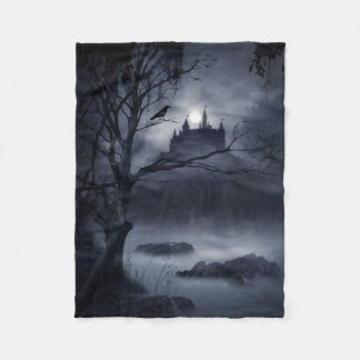 Gothic Night Fantasy Small Fleece Blanket