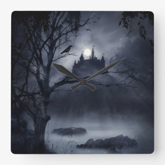 Gothic Night Fantasy Wall Clock