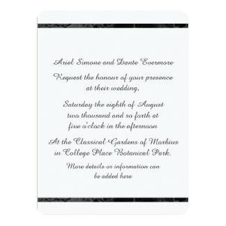 "Gothic Nightfall Floral Wedding Handfasting Photo 6.5"" X 8.75"" Invitation Card"