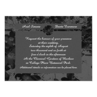 "Gothic Nightfall Floral Wedding Handfasting Suite 6.5"" X 8.75"" Invitation Card"