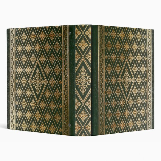 Gothic Old Green Leather Book Binder