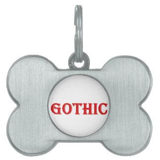 Gothic Pet Tag