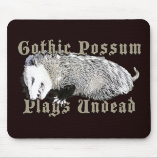 Gothic Possum Plays Undead Mouse Pad