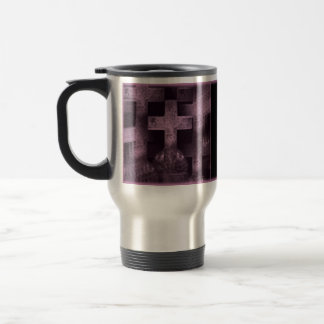 Gothic pretty purple tombstone customizable mug