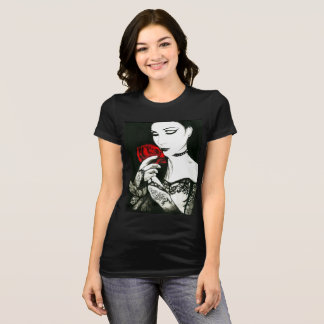 Gothic Princess with Rose T-Shirt