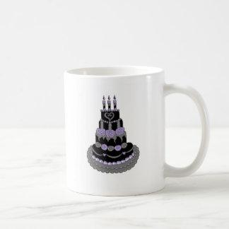 Gothic Purple Birthday Cake Basic White Mug