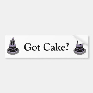 Gothic Purple Birthday Cake Bumper Sticker