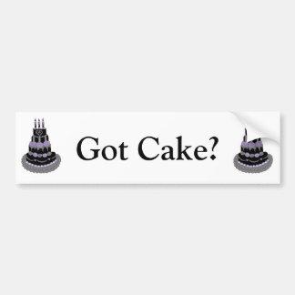 Gothic Purple Birthday Cake Car Bumper Sticker