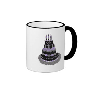 Gothic Purple Birthday Cake Ringer Mug