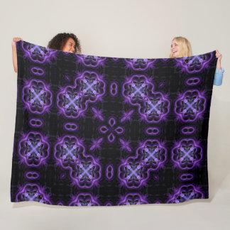 Gothic Purple Dragonfly Lotus Spirit Mandala Fleece Blanket