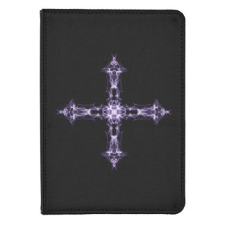 Gothic Purple Fractal Cross Kindle Touch Cover