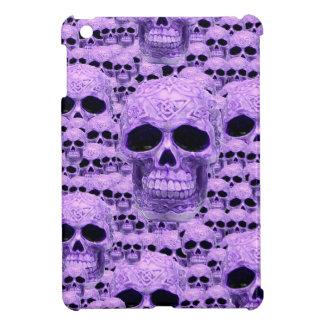 Gothic Purple Skulls iPad Mini Case