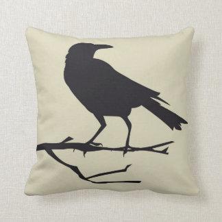 Gothic Raven Bird Pillow Style 3