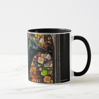 Gothic Raven Stained Glass Gothic Digital Art Mugs